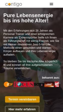 Vorschau der mobilen Webseite www.contigo.world, Contigo Personal Training
