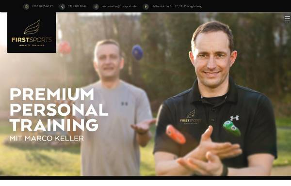 Vorschau von www.firstsports.de, Firstsports - Die Sportagentur