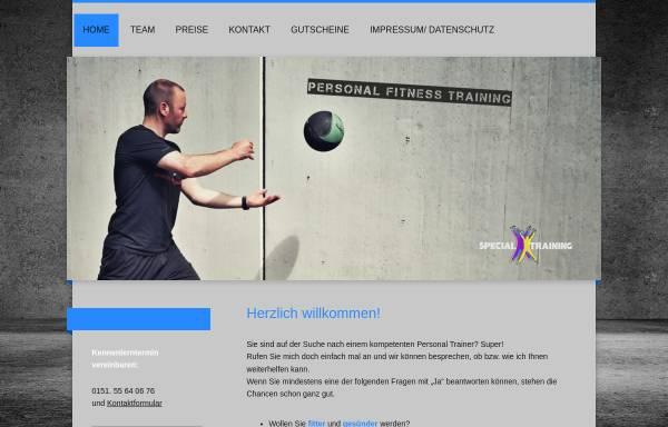 Vorschau von www.specialtraining.de, Kay Gehrmann Personaltraining und Ernährungsberatung