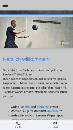 Vorschau der mobilen Webseite www.specialtraining.de, Kay Gehrmann Personaltraining und Ernährungsberatung