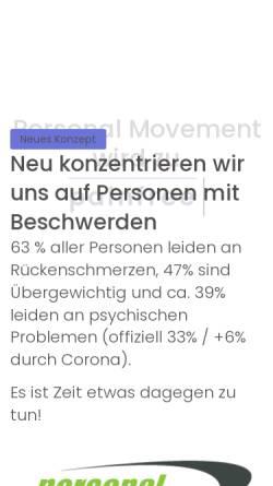 Vorschau der mobilen Webseite www.personalmovement.ch, Personal Movement