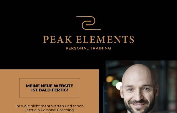 Vorschau von www.peak-elements.de, Personal Training Peak Elements