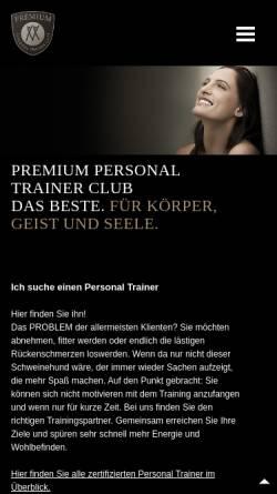 Vorschau der mobilen Webseite www.premium-personal-trainer.com, Premium Personal Trainer