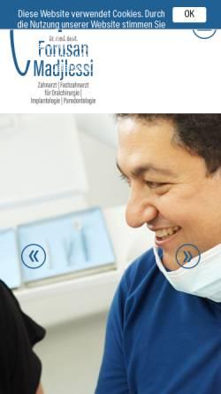 Vorschau der mobilen Webseite www.madjlessi.de, Dr. Forusan Madjlessi