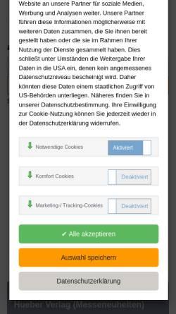 Vorschau der mobilen Webseite www.unifachbuch.de, Unifachbuch Zbigniew Jablonski