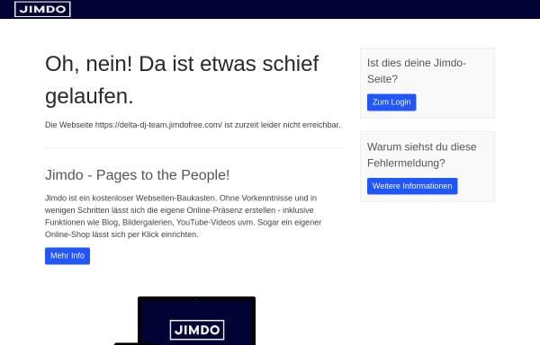 Vorschau von delta-dj-team.jimdo.com, Delta DJ-Team