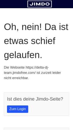 Vorschau der mobilen Webseite delta-dj-team.jimdo.com, Delta DJ-Team