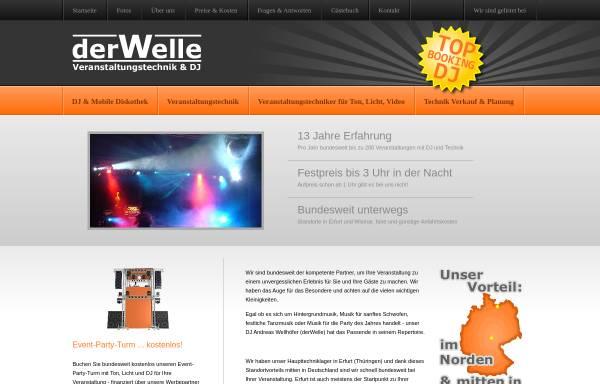Vorschau von www.derwelle.de, derWelle Veranstaltungstechnik & DJ