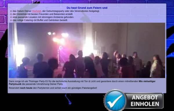 Vorschau von www.veranstaltungskonzept-gotha.de, Disco 84: Mobiler DJ für Feier, Party & Event in Thüringen