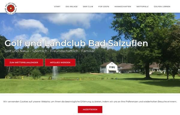 Vorschau von www.golfclub-bad-salzuflen.de, Golf- und Landclub Bad Salzuflen e.V.
