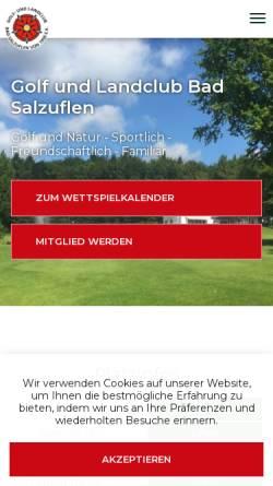 Vorschau der mobilen Webseite www.golfclub-bad-salzuflen.de, Golf- und Landclub Bad Salzuflen e.V.