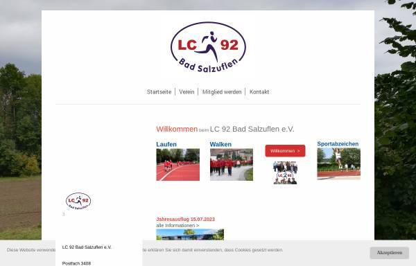 Vorschau von www.lc92.de, LC 92 e.V.