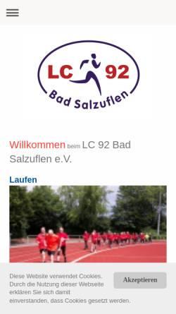 Vorschau der mobilen Webseite www.lc92.de, LC 92 e.V.