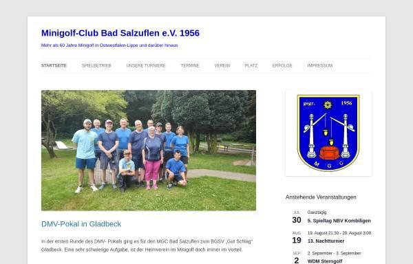 Vorschau von www.mgc-bad-salzuflen.de, Minigolf Club Bad Salzuflen e.V.
