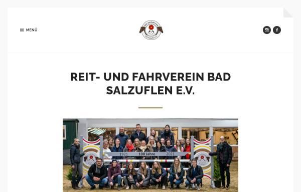 Vorschau von www.reitverein-badsalzuflen.de, Reit- und Fahrverein Bad Salzuflen e.V.