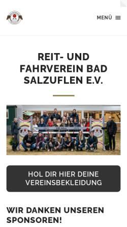 Vorschau der mobilen Webseite www.reitverein-badsalzuflen.de, Reit- und Fahrverein Bad Salzuflen e.V.