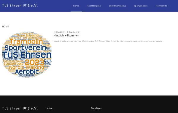 Vorschau von www.tus-ehrsen.de, TuS Ehrsen e.V.