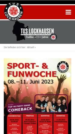 Vorschau der mobilen Webseite www.tus-lockhausen.de, TuS Lockhausen e.V.