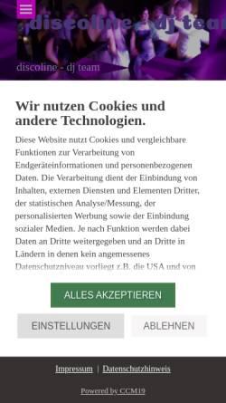 Vorschau der mobilen Webseite www.discoline.de, Discoline