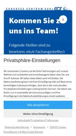 Vorschau der mobilen Webseite www.suhl-ccs.de, Congress Centrum Suhl