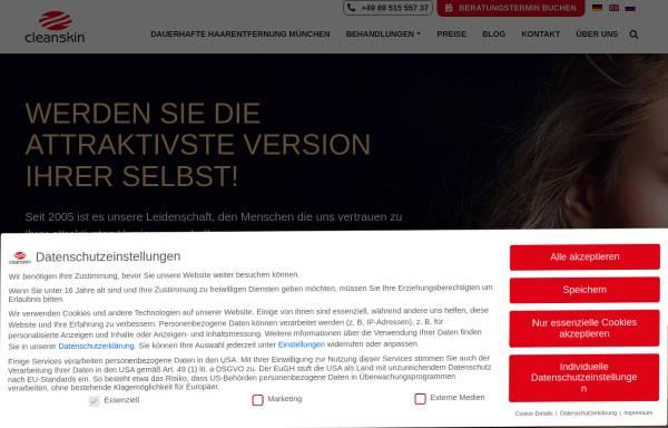 Vorschau von www.cleanskin.de, Clean Skin Laserhaarentfernung
