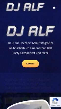 Vorschau der mobilen Webseite www.djalf.at, DJ Alf