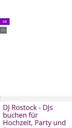Vorschau der mobilen Webseite djbarney.de, DJ Barney
