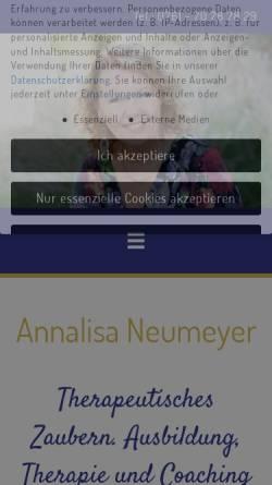Vorschau der mobilen Webseite www.therapeutisches-zaubern.de, Therapeutisches Zaubern