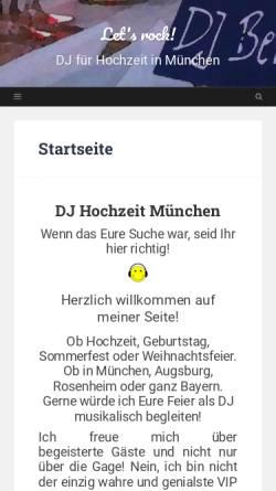 Vorschau der mobilen Webseite www.dejay-bernd.de, DJ Bernd
