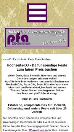 Vorschau der mobilen Webseite www.dj-bernd-s.de, DJ Bernd S.