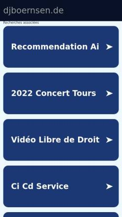 Vorschau der mobilen Webseite www.djboernsen.de, DJ Börnsen