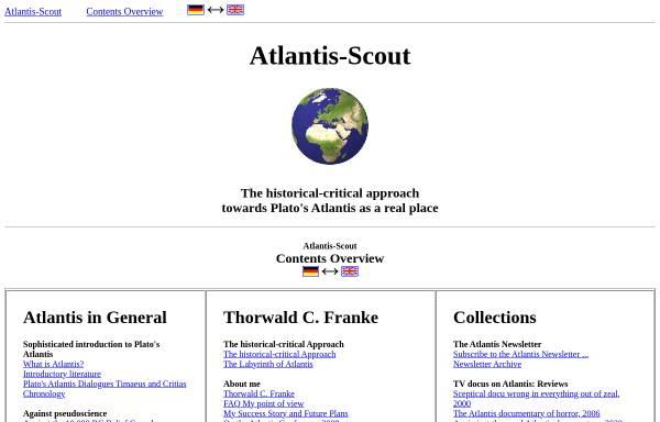Vorschau von www.atlantis-scout.de, Atlantis-Scout: Portal über das Atlantis des Platon
