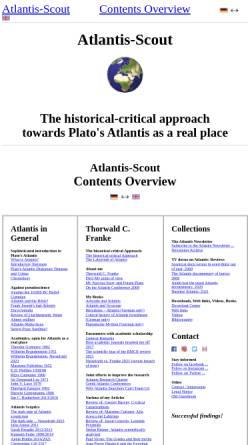 Vorschau der mobilen Webseite www.atlantis-scout.de, Atlantis-Scout: Portal über das Atlantis des Platon