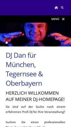 Vorschau der mobilen Webseite www.rent-a-dj.net, DJ Dan München