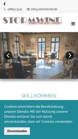 Vorschau der mobilen Webseite www.cafe-stormwind.de, Café Stormwind