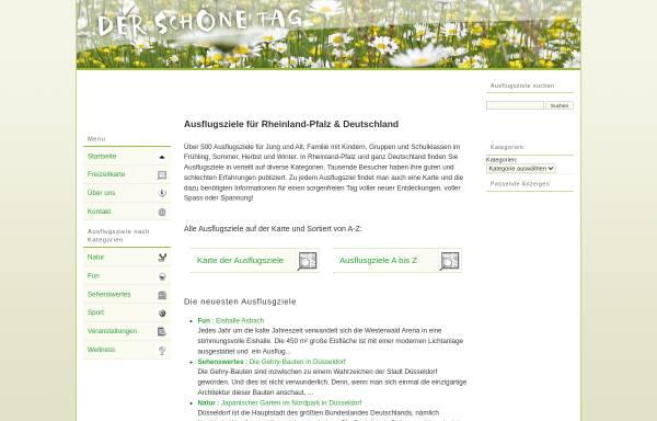 Vorschau von www.der-schoene-tag.de, Der schöne Tag - Ausflugsziele für Familien in Rheinland-Pfalz