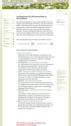 Vorschau der mobilen Webseite www.der-schoene-tag.de, Der schöne Tag - Ausflugsziele für Familien in Rheinland-Pfalz
