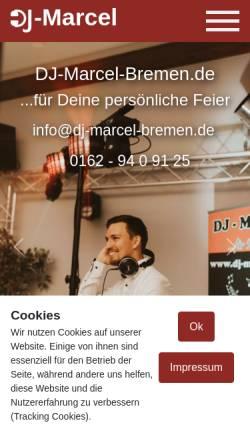 Vorschau der mobilen Webseite www.dj-marcel-bremen.de, DJ Marcel