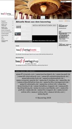 Vorschau der mobilen Webseite www.bauverlag.de, Bauverlag BV GmbH