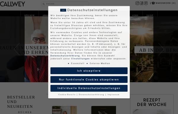 Vorschau von www.callwey.de, Callwey Verlag