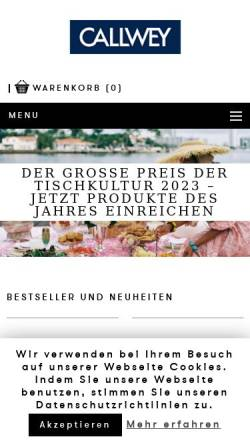 Vorschau der mobilen Webseite www.callwey.de, Callwey Verlag