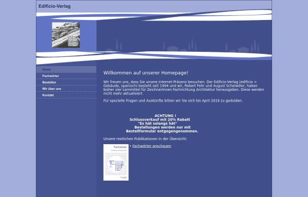 Vorschau von www.edificio-verlag.ch, Edificio Verlag