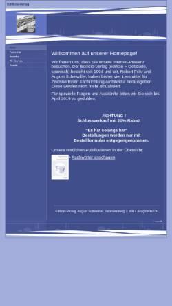 Vorschau der mobilen Webseite www.edificio-verlag.ch, Edificio Verlag