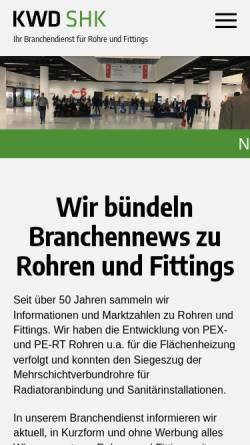 Vorschau der mobilen Webseite www.kwd-online.de, KWD-Informationsdienste, Redaktion Hix