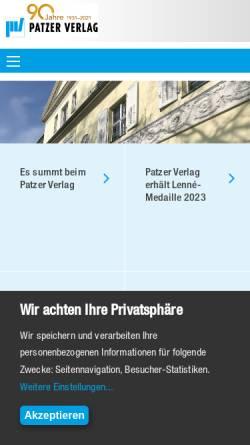Vorschau der mobilen Webseite patzerverlag.de, Patzer Verlag
