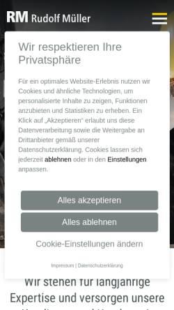 Vorschau der mobilen Webseite www.rudolf-mueller.de, Verlagsgruppe Rudolf Mueller