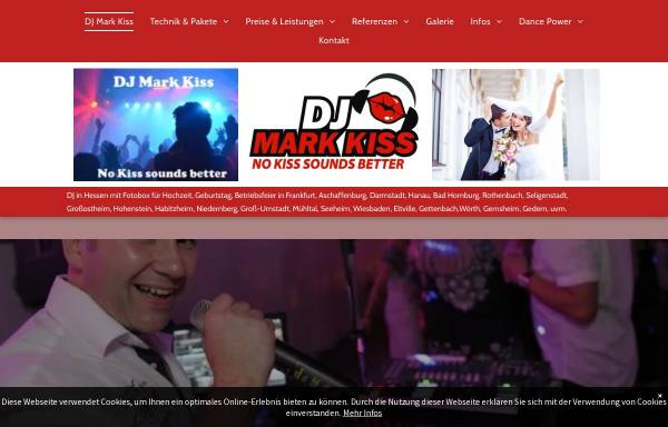 Vorschau von www.djmarkkiss.de, DJ Mark Kiss