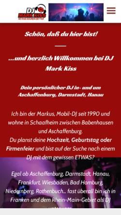 Vorschau der mobilen Webseite www.djmarkkiss.de, DJ Mark Kiss