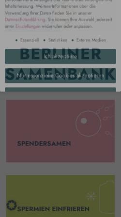 Vorschau der mobilen Webseite www.berliner-samenbank.de, Berlin Samenbank GmbH