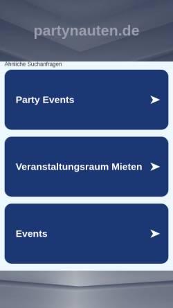 Vorschau der mobilen Webseite www.partynauten.de, DJ Miguel